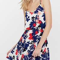 Floral Silhouette Print Strappy Dress from EXPRESS