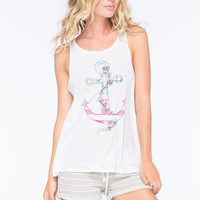 O'neill Freedom Anchor Womens Tank White  In Sizes