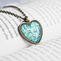 A Mermaid's Tail Heart Pendant Necklace