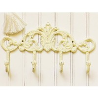 Cast Iron Scroll Coat Hook - Choose Your Color - Colorful Cast and Crew