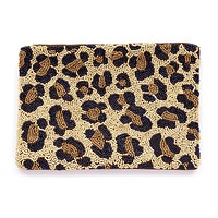 Cheetah Seed Beaded Clutch