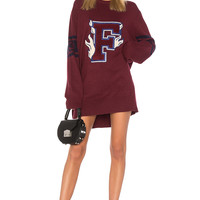 Fenty by Puma Varsity Letter Sweater in Purple