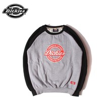 Dickies fashion casual wild letter print plus velvet round neck long-sleeved sweater