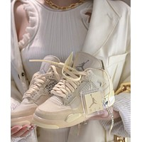 NIKE Air Jordan 4 Sail OW Sneaker Shoes