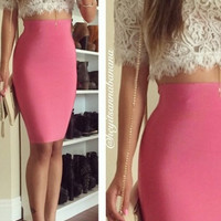 High Waist Bandage Mini Skirt (more colors)