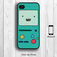 Adventure Time Beemo iPhone 5 / 5S Hard Case Cartoon BMO Back Cover (Black, White, Clear)