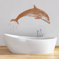 kik1337 Wall Decal Sticker Sea animals dolphin bathroom living room bedroom