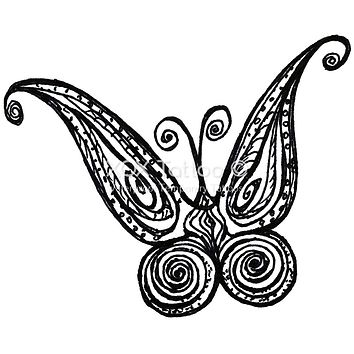 Paisley Butterfly Waterproof Temporary Tattoos Lasts 3 to 4 days Choose Small, Medium or Large Sizes