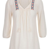 Lace And Embroidered Peasant