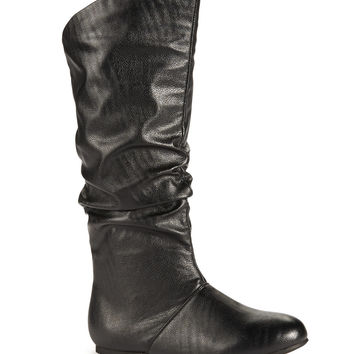 Aeropostale  Womens Slouch Boots - Black, 6