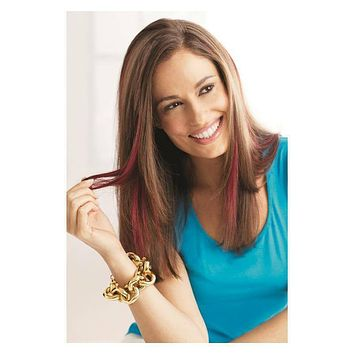 Pop Clip in color  synthetic hair extensions by Hairuwear