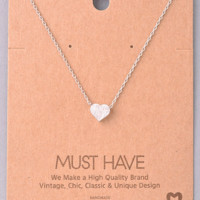 Must Have Necklace- Heart- Silver