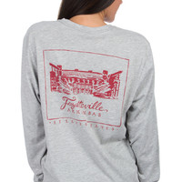 Arkansas Stadium Tee - Long Sleeve – Lauren James