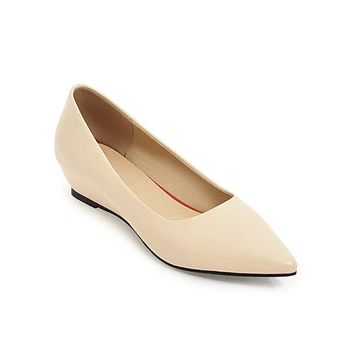 Pointed Toe Platform Wedges Shoes for Woman 6906