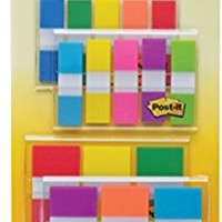 Post-it Flags Assorted Color Combo Pack, 320 Flags Total, 200 1-Inch Wide Flags and 120 .5-Inch Wide Flags, 4 On-The-Go Dispensers/Pack