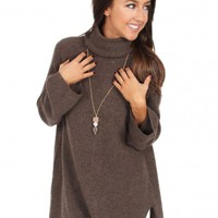 Far From Home Sweater in Brown   Monday Dress Boutique