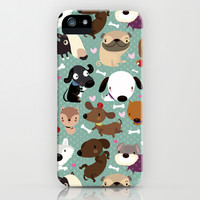 Dog pattern iPhone & iPod Case by Maria Jose Da Luz