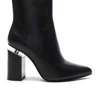 Alexander Wang Kirby Leather Boots in Black   FWRD