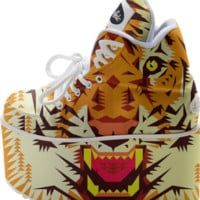 Geometric Tiger Head created by chobopop | Print All Over Me
