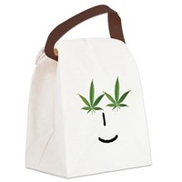 Pot Head Emote Canvas Lunch Bag> The Pot Head Emote> 420 Gear Stop