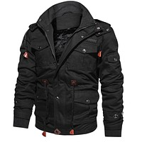 Men's Winter Fleece Jackets Warm Hooded Coat Thermal Thick Outerwear