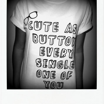 Cute As A Button Shirt - Harry Styles, Marcel, One Direction, 1D