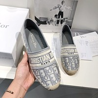 Dior new embroidered fisherman shoes