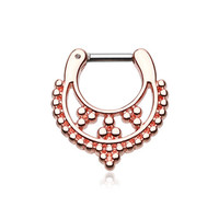 Rose Gold 16g 14g Septum Clicker Classic Royal Filigree Earring Jewelry Septum Cartilage Piercing Tragus Ring Helix Conch Nose Belly Nipple