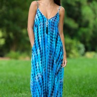 Beyond The Horizon Maxi Dress-Storm