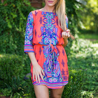 Never Too Bold Dress, Coral