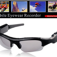 UB-337D Multifunctional Mobile Camera Glasses with Video Recorder & TF Card Reader (Black)