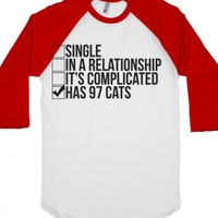 White/Red T-Shirt | Cat Lady Shirts