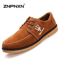 2016 New Spring Men Shoes Luxury Brand Maserati Casual Shoes Men Leather Shoes For Men Flats Zapatos Hombre ZNPNXN
