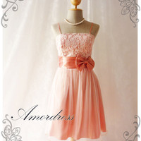 Princess Romance - Blush Old Rose Pink Tulle Lace Dress Party Prom Bridesmaid Wedding Cocktail Dinner Evening Dress