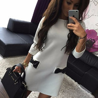 office dress Autumn&spring  Women Dress Elegant Half Sleeve Office Work Wear Women Winter Bodycon Casual Outfits 8 Colors