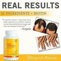 PRICE REDUCTION! Nourish Hair Growth Vitamins with Biotin and DHT Blockers- Guaranteed Results, Less Loss and Better Skin and Nails