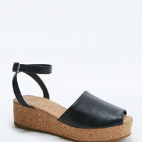 Carrie High Vamp Black Cork Wedges - Urban Outfitters