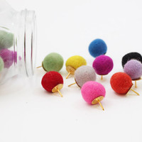 Felt Thumb Tacks Felt Balls Push Pins Colorful Thumbtacks Bulletin Board Girls Office Supplies Dorm Room Decor School Supplies - Set of 10