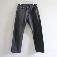 Levis 501 Waist 30 Vintage Levis's Jeans High Waisted Button Fly Straight Leg Washed Denim Mom Jeans Boyfriend Jeans Hipster 31X32 #P003A