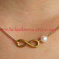 necklace, infinity necklace, antique golden infinity necklace