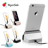 High Quality Sync Data Charging Dock Station Cellphone Desktop Docking Charger & USB Cable For Apple iPhone 5 5S 5C 6 6 Plus 6C