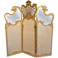 Beautiful French Carved Giltwood Floor Screen 19th Century