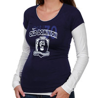 Nike Old Dominion Monarchs Ladies Sunny Day Cross Campus Double Layer Long Sleeve T-Shirt - Navy Blue