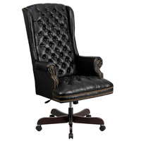 High-back Traditional Tufted Leather Executive Office Chair   Overstock.com Shopping - The Best Deals on Task Chairs
