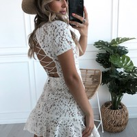 Little Darlin' Dress Off White