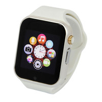 A1 Smart Wrist Watch For Android IOS Bluetooth Camera Function White Rubber Band