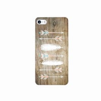 iPhone 5, 6 Case Arrows On Wood iPhone 5 s Cover Tribal iPhone Hard Cover Feathers Phone 6 Back Cover Arrows 2610