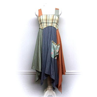 Festival Dress, Hippie Dress, Patchwork Dress, Bohemian Clothing, Sustainable Clothing, Unique Clothing, Upcycled Clothing for Women
