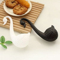 Colander Swan Shape Tea Herb Strainer Teaspoon Infuser Filter