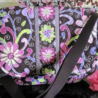 """VERA BRADLEY """"MESSENGER BAG"""" in the VERY BEAUTIFUL and COLORFUL """"PURPLE PUNCH"""" Pattern. Floral Crossbody bag with MANY USES. BRAND NEW with ORIGINAL TAGS Attached!"""